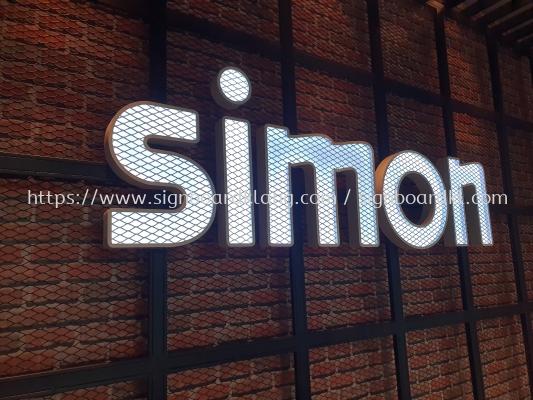 simon indoor 3d led frontlit lettering logo signage signboard at klang kuala lumpur puchong shah alam