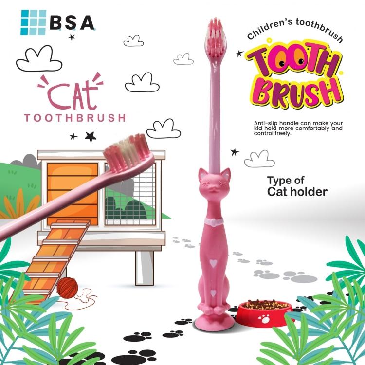 Kitty Cat Toothbrush (Code D14235-D14238)