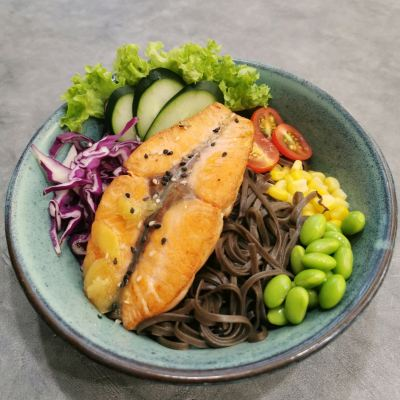 Salmon Fish Healthy Meal (Soba noodle) �����㽡���� (������)