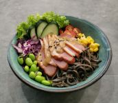 Smoked Duck Breasts Healthy Meal (Soba noodle) 熏鸭肉健康餐 (荞麦面)