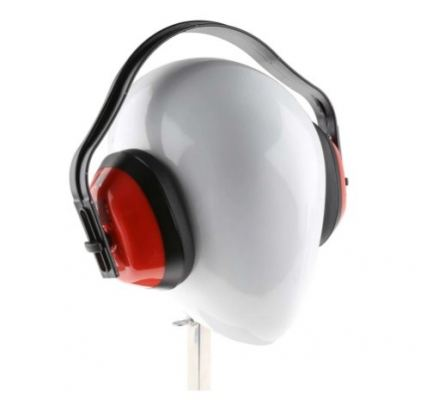 184-5931 - RS PRO Ear Defender with Headband, 28dB, Red