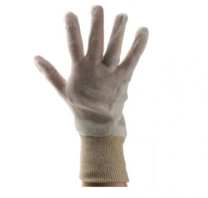 184-6018 - RS PRO White 35% Cotton, 65% Polyester Work Gloves, Size 10, Large