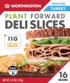 Worthington Meatless Turkey Deli Slices 195gm ( 16pcs / pkt ) Meatless with Egg white content Vegetarian Meat Vegan