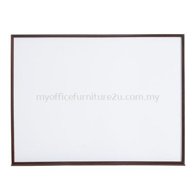 Wooden Frame Melamine Non Magnetic Whiteboard (600H x 900L mm)
