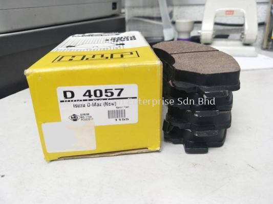D 4057 ISUZU D-MAX FRT DISC BRAKE PAD
