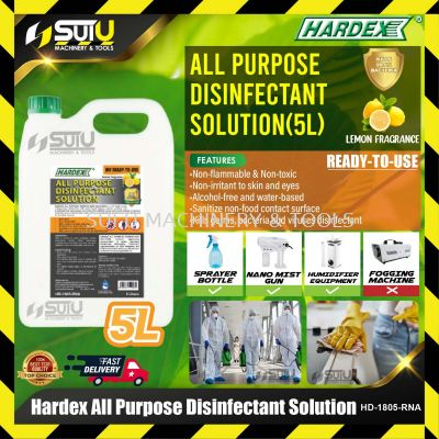 HARDEX HD-1805-RNA 5L All Purpose Disinfectant Solution (Ready To Use)