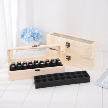 15ml Essential oil wooden box with divided compartment