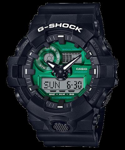 G-SHOCK GA-700MG-1A MIDNIGHT GREEN ANALOG DIGITAL WATCH