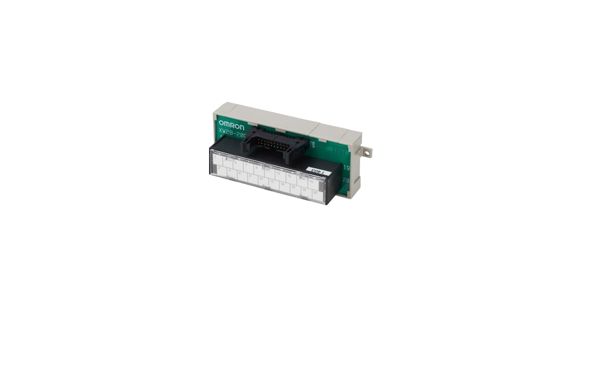 OMRON XW2B (Standard-type) Simplifies Connector and terminal block replacement, and requires less in