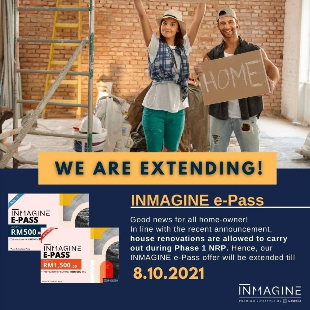 Kickstart your renovation now!! We are Extending the INMAGINE