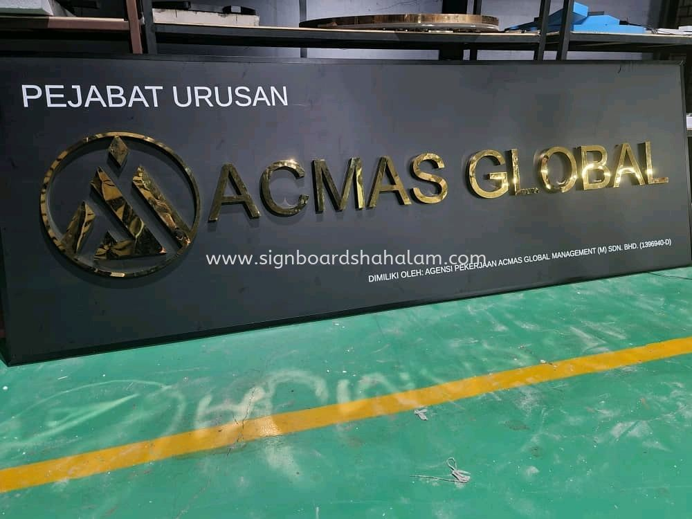 Acmas Global Klang - Stainless Steel 3D Box Up Gold Mirror