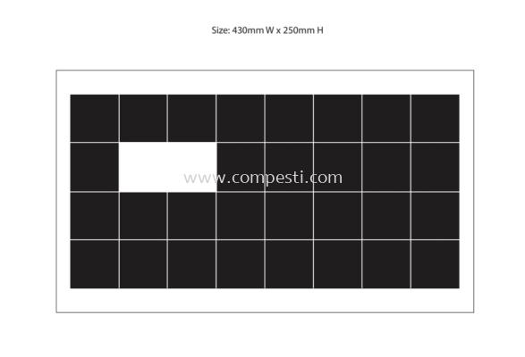 Fly Glue Board Black 02 - 240mm x 430mm