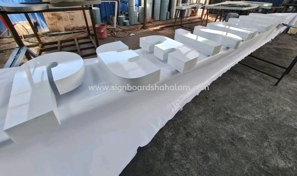 Aluminum Box Up Signage Klang