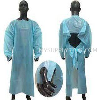 Long Sleeve Gown Isolation Plastic