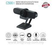 Rapoo C500 HD Webcam 4K FHD 2160P 30FPS 80° Wide Angle Auto Focus Web Camera with Noise-canceling Microphone