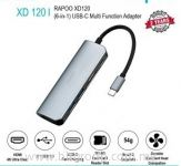 Rapoo XD120 USB-C 6 in 1 Adapter Docking Stations Splitter Converter Support USB HDMI SD Card Multi-function