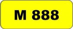 Number Plate M888 Rare Classic Plate