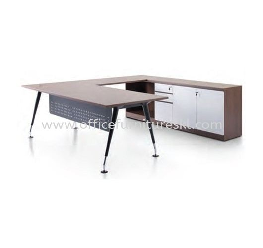ZANAKO EXECUTIVE L SHAPE MANAGER OFFICE TABLE WITH LOW OFFICE CABINET - Top 10 Best Recommended Director Office Table | Director Office Table Gombak | Director Office Table Batu Caves | Director Office Table Kepong