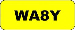 Number Plate WA8Y Wilayah Golden Plate
