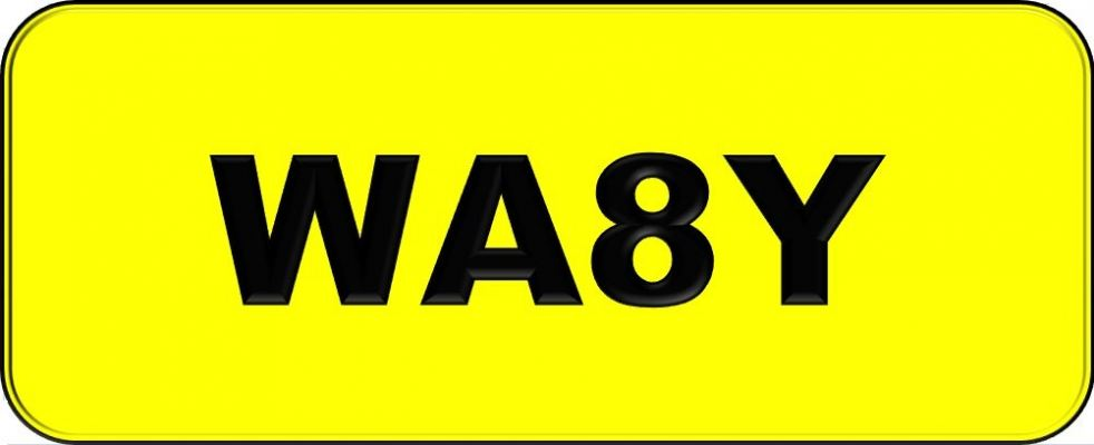 Number Plate WA8Y