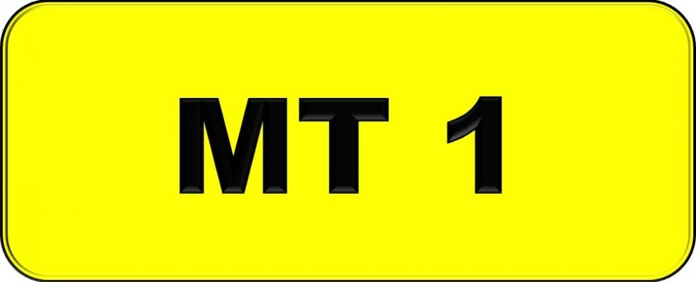 Number Plate MT1