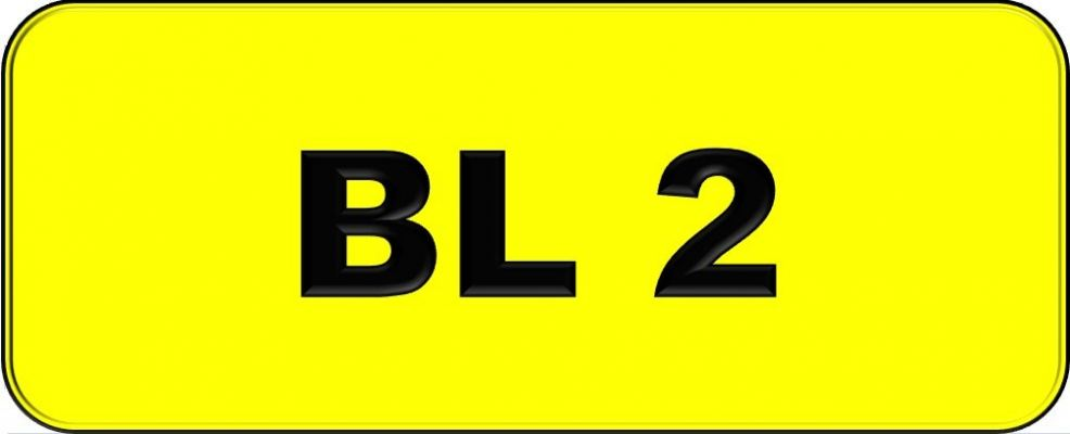 Number Plate BL2