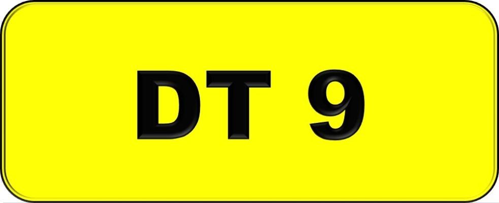 Number Plate DT9