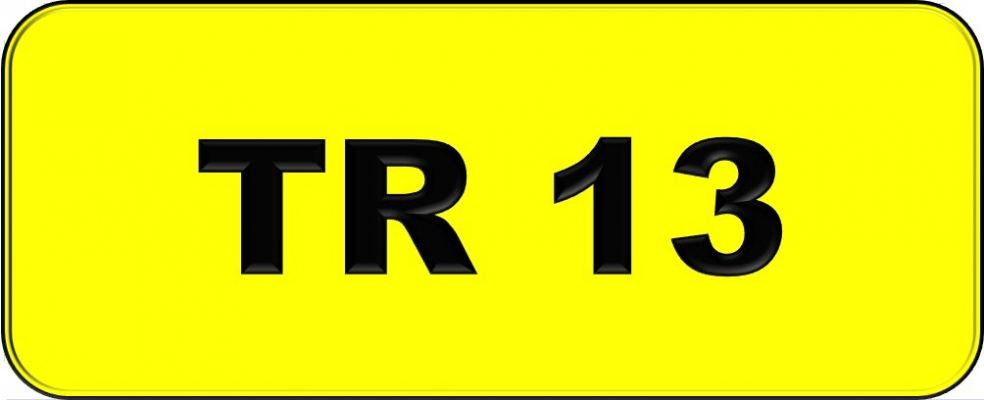 Number Plate TR13