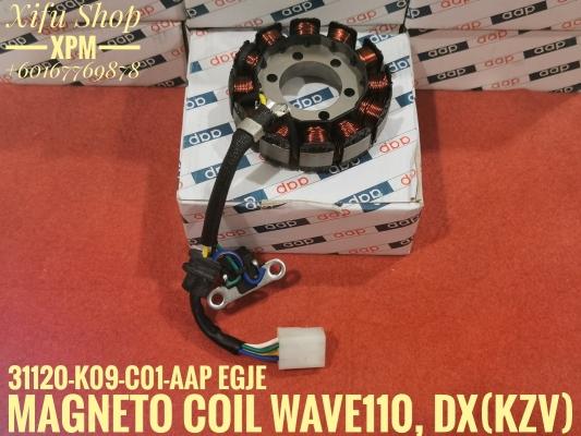 MAGNETO COIL /STATOR COIL WAVE110S,DX(KZV) 31120-K09-C01-AAP NEIE