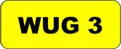Number Plate WUG3 VVIP Plate