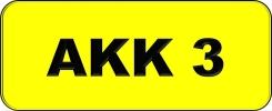 VIP Nice Number Plate (AKK3) All Plate