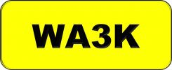Wilayah Golden Number Plate (WA3K) All Plate