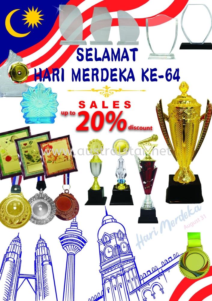 SELAMAT HARI MERDEKA KE-64 Sales up to 20% discount