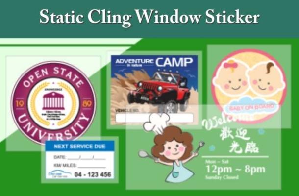 Static Cling Window Sticker