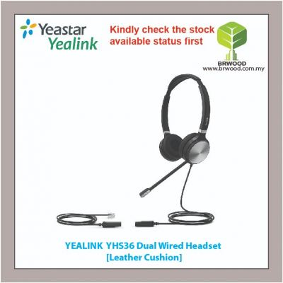 Yealink YHS36: DUAL WIRED HEADSET [Leather Cushion]