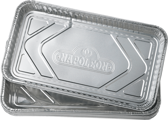 """NAPOLEON LARGE GREASE DRIP TRAYS (14"""" X 8"""") �C PACK OF 5"""