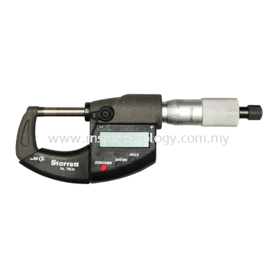 Starrett IP67 Electronic Micrometer, without Output, 0-25mm/0-1��, (796MEXRL-25 Series)