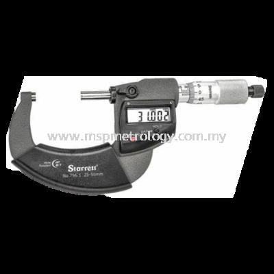 Starrett Electronic Micrometer IP67 (796.1MXRL-50 Series)