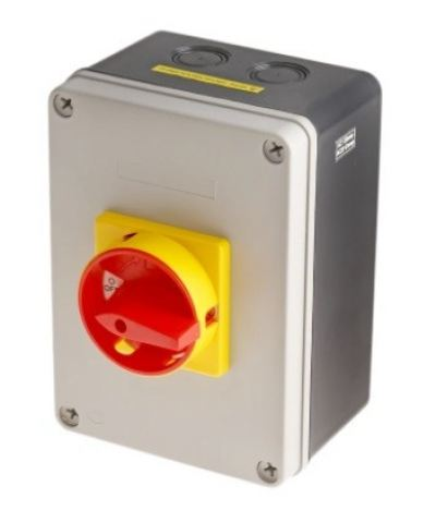 860-9548 - RS PRO 3 Pole Panel Mount Non Fused Isolator Switch - 80 A Maximum Current, 37 kW Power R