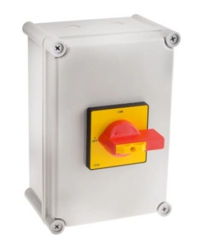860-9545 - RS PRO 3 Pole Panel Mount Non Fused Isolator Switch - 125 A Maximum Current, 75 kW Power