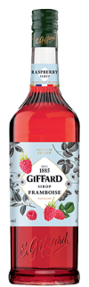 GIFFARD RASPBERRY SYRUP 1L FRUITS AND PLANTS Syrups Beverage