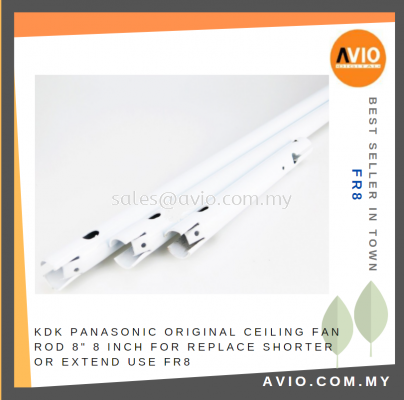 """KDK PANASONIC Original Ceiling Fan Rod 8"""" 8 Inch for Replace Shorter or Extend use FR8"""
