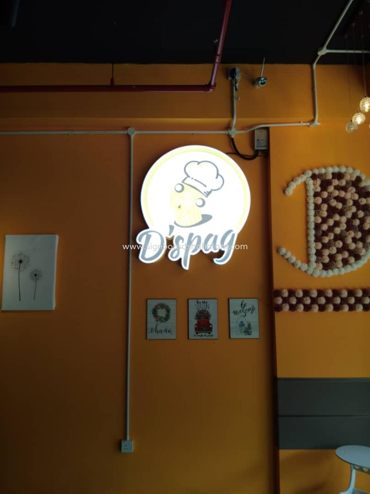 DSPAG Cafe Enterprise KL - 3D LED Box Up Signboard - Frontlit