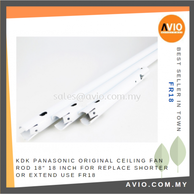 """KDK PANASONIC Original Ceiling Fan Rod 18"""" 18 Inch for Replace Shorter or Extend use FR18"""