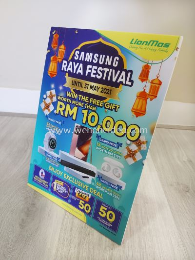 A4 Size Foam Board Poster with Stand