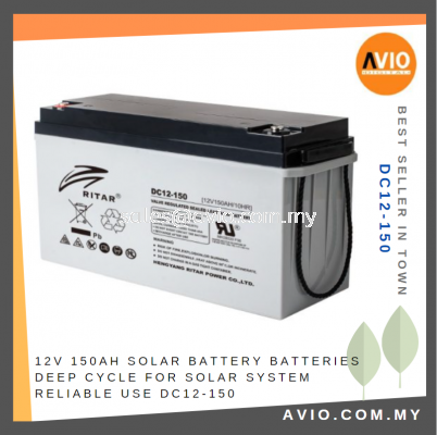 12V 150Ah DC Solar Battery Batteries Deep Cycle for Solar System Reliable use DC12-150