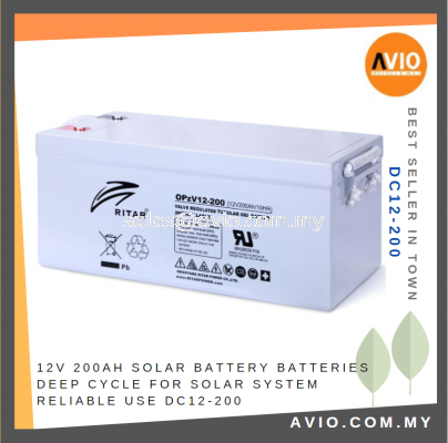 12V 200Ah DC Solar Battery Batteries Deep Cycle for Solar System Reliable use DC12-200