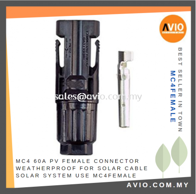 MC4 60A PV Straight Female Connector Weatherproof for Solar Cable Solar System use MC4FEMALE