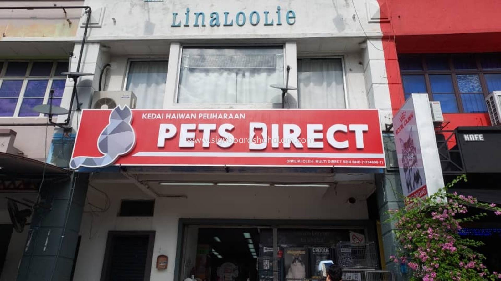 Pet Direct Sdn Bhd Shah Alam - 3D LED Box Up Signboard - Frontlit