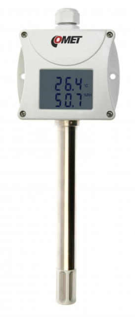 COMET T0213 Temperature and humidity duct probe with 0-10V output